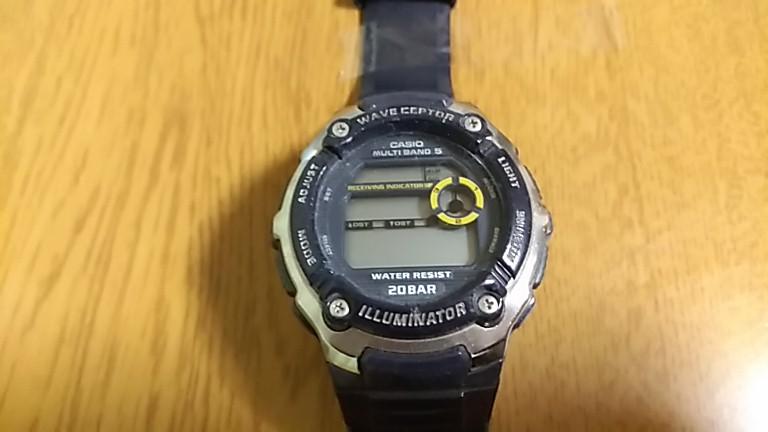 時計表示が消えたWV-M200-2AJF