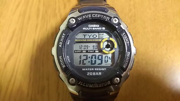 時計表示が戻ったWV-M200