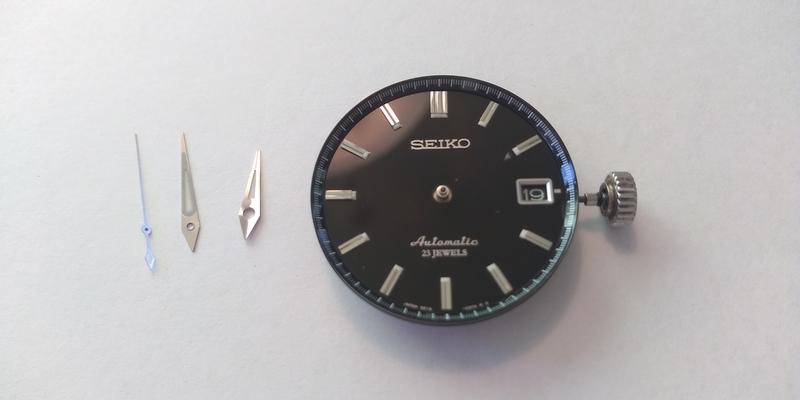 針を外したSARB033の文字盤