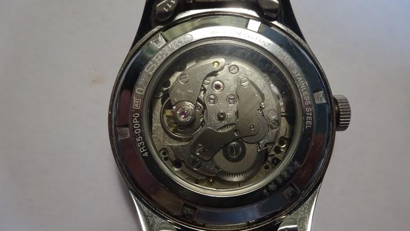 完成した4R35手巻き時計