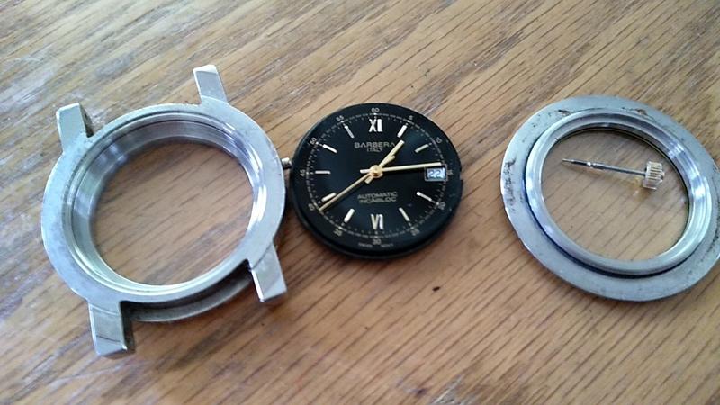 ムーブメントを取り出した自動巻き時計