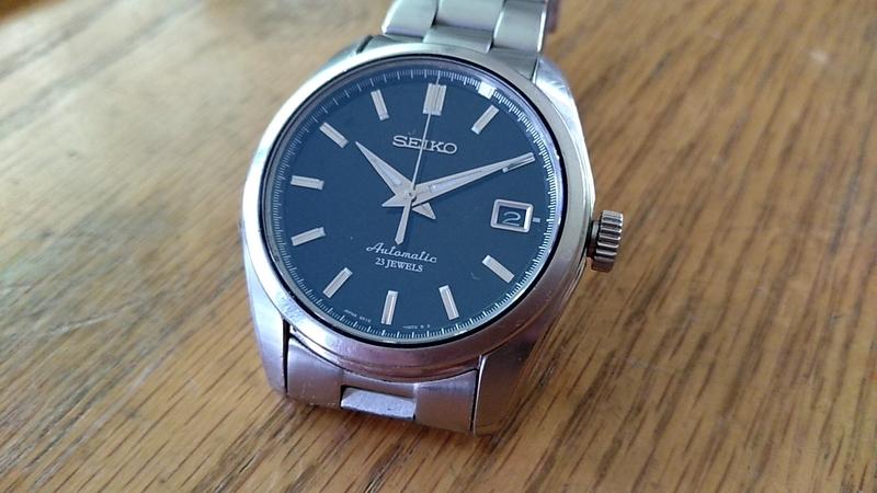 自動巻き時計の時刻合わせ