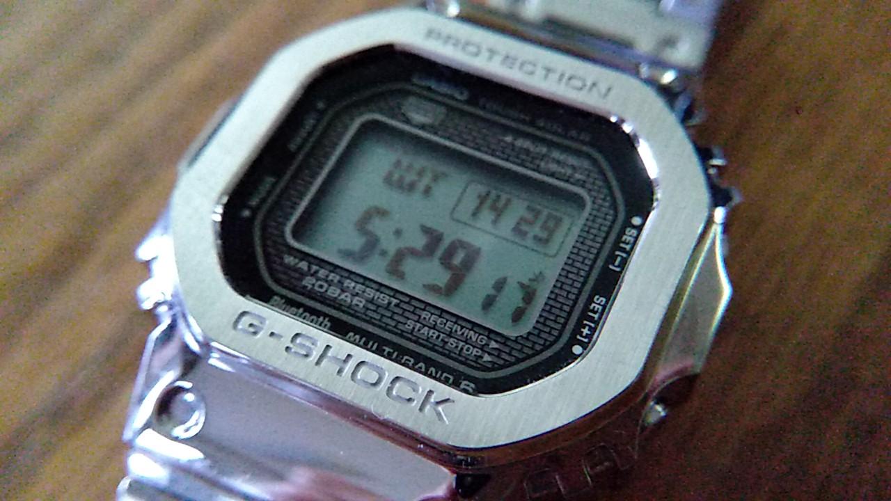 ワールドタイムを表示したGMW-B5000D-1JF